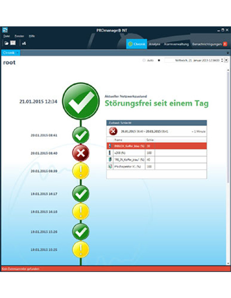 PROmanage® NT - Monitoring software 40 ports | PROFIBUS and PROFINET - Network monitoring 117000031