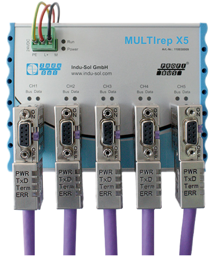 MULTIrep X5 repeater with connectors