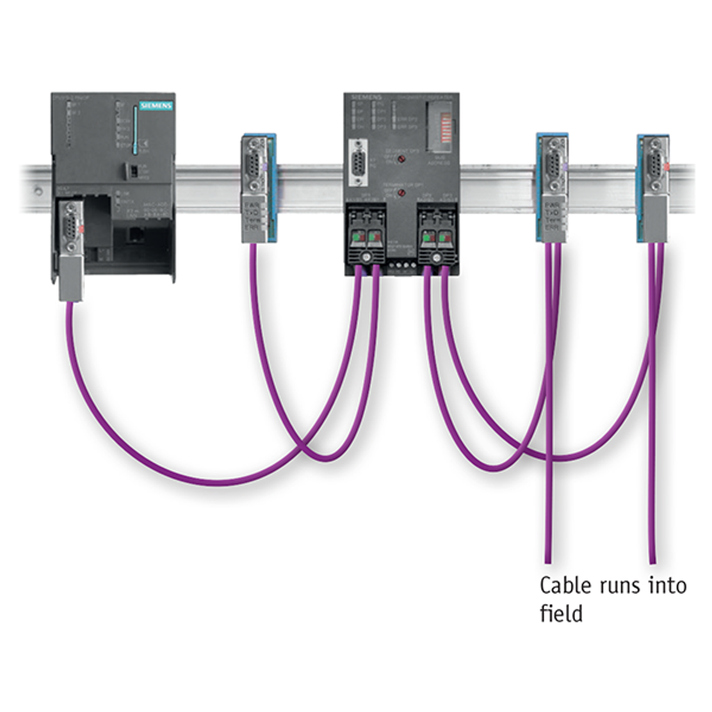 An example how to use the PROFIBUS active measuring point PBMA with diagnostic plug