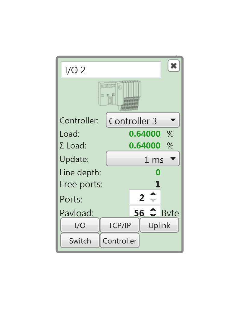 Refresh Rate - Justify the refresh rate uniformly for all devices or separately. A simple simulation shows the effects of the selected refresh rate on the network load.