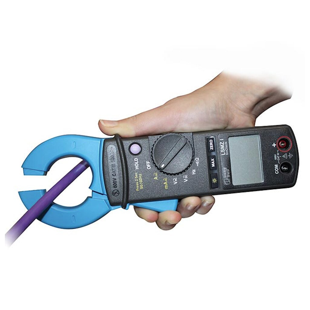 Holding functions allow permanent measurements in a range up to 100 A