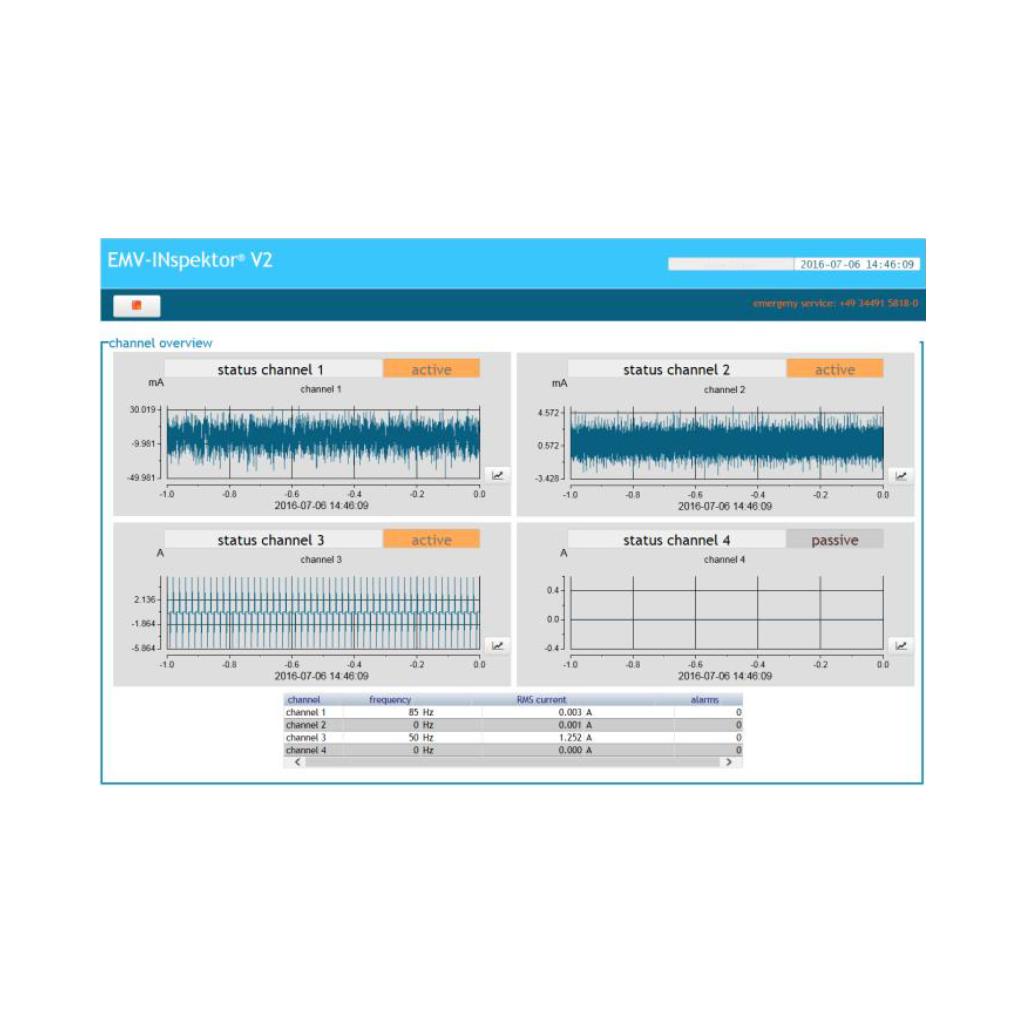 Display of measuring data with EMV-INspektor® V2