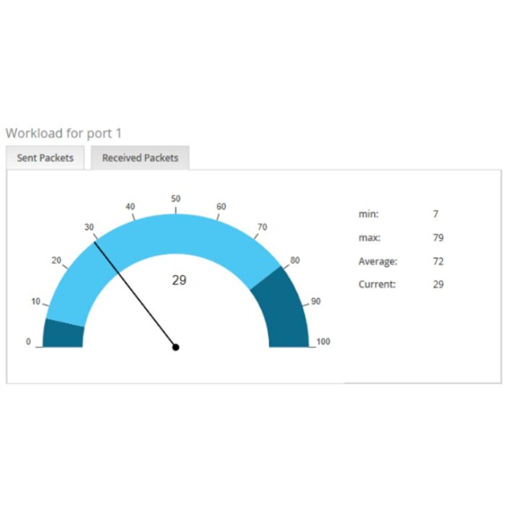 Display of netload with millisecond accuracy