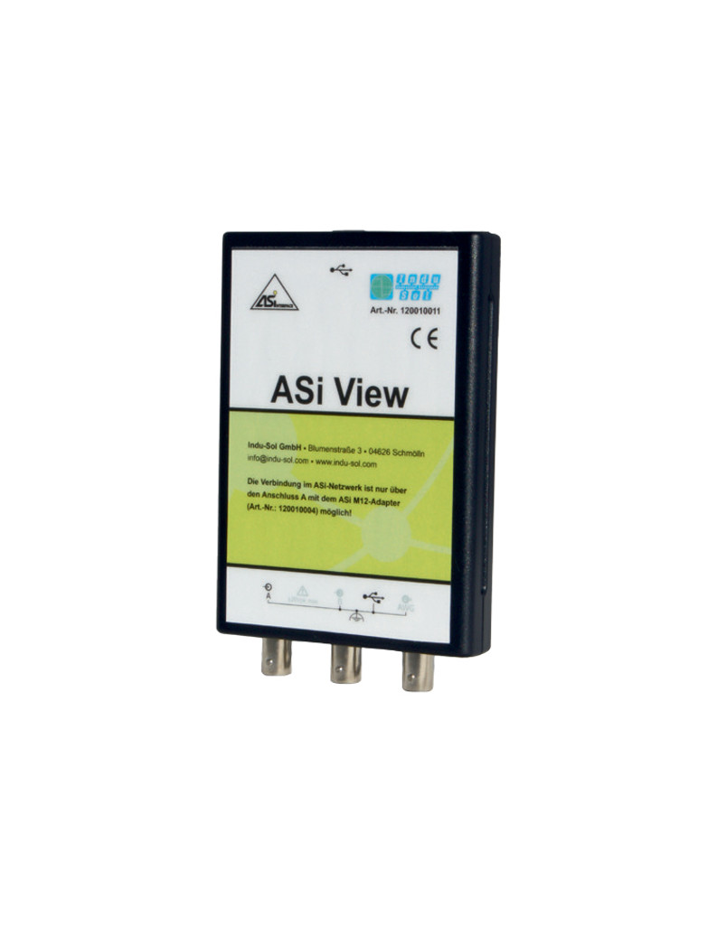 InduSol's ASi View (120010011) determines the physical and logic communication quality of the data exchange in ASi networks.