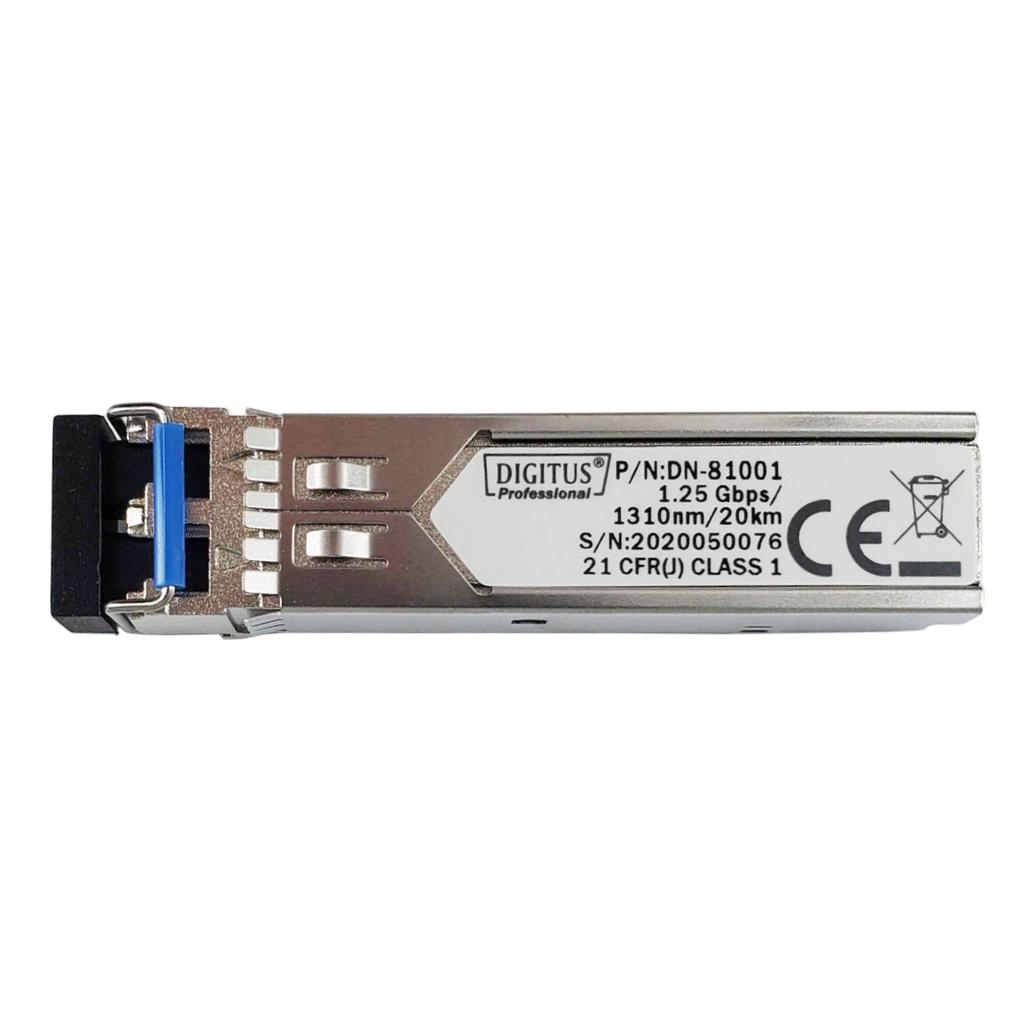 Mini GBIC SFP Tranceiver Module, 1.25 Gbps, 20km for PROmesh P10