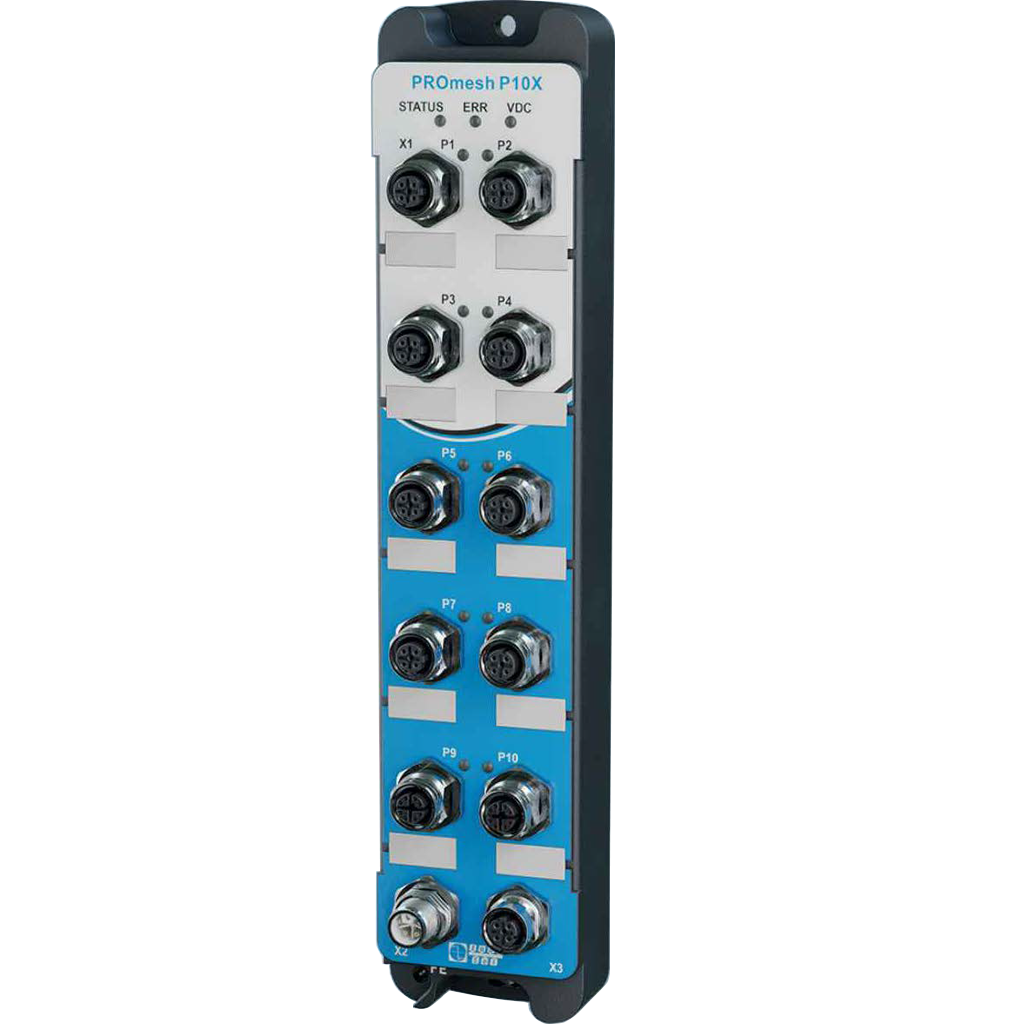 PROmesh P10X Industrial Ethernet/PROFINET  IP67 Switch with integrated online cable diagnostics