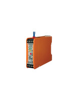 InduSol's ASi Insulation Monitor (120070001) monitors the two lines for body contact and signals the same.