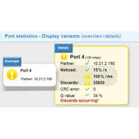 Detailed view of the port statistics on the web interface overview
