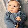 Pique Collar Dot Knit Set
