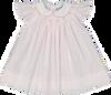 Argyle Smocked Fly Sleeve Dress