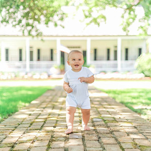 Smocked Diamond Shortall