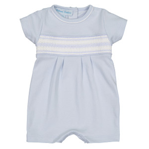 Pima Smocked Diamond Shortall