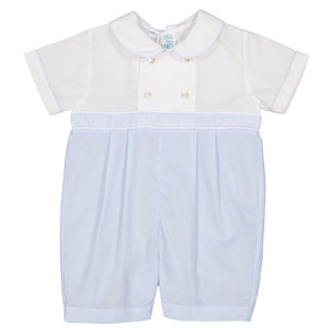 Boys Double Breasted Romper