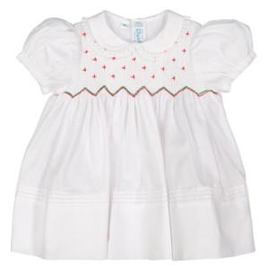 Smocked Diamond Holiday Dress