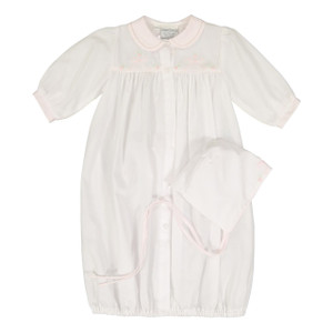 Embroidered Bow Take Me Home Gown with Hat