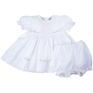 Honeycomb Smocked Ruffle Dress