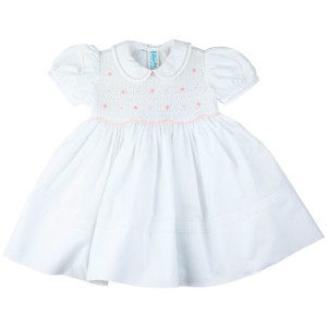 Smocked Rosebud Dress