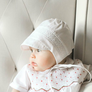 Boys Smocked Bonnet