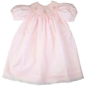 Rose Bouquet Smocked Bishop Style Dress