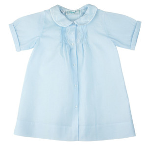 Boys Embroidered Collar Folded Daygown