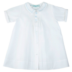 Boys Train Embroidery Folded Daygown
