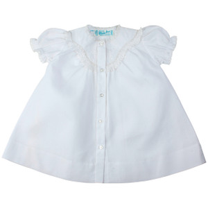 Girls Embroidered Lacy Yoke Daygown