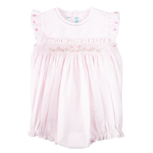 Rose Garden Collection Smocked Fly Sleeve Bubble