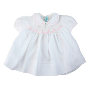 Rosebud Detail Smocked Dress