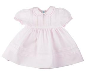 Pintucks & Lace Dress