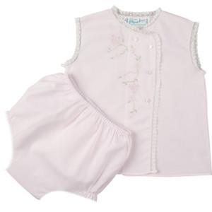 Girls Floral Lace Diaper Set