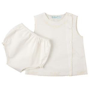 Girls Scalloped Diaper Set