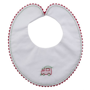 Train Caboose Holiday Bib