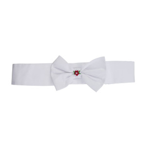 Holiday Pearl Flower Bow Hairband