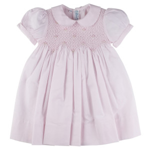 Scalloped Pearl Smocked Dress