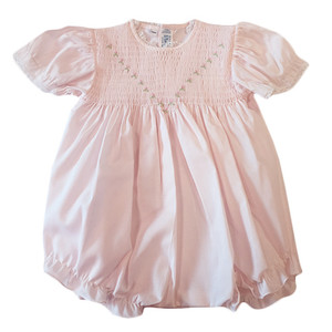 Smocked Bubble With Roses