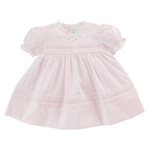 Floral Bullions Dress - Newborn Size