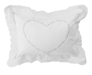 Girls Floral Heart Pillow Case