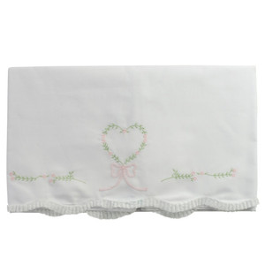 Girls Floral Heart Receiving Blanket