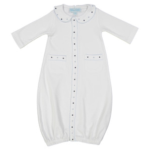 Boys Open Front Dot Gown