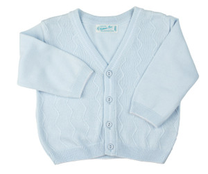 Zigzag V-Neck Knit Cardigan