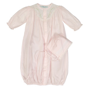 Girls Embroidered Yoke Take Me Home Gown