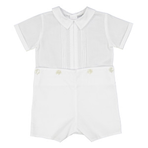 Pleated Bobbie Suit with Dots