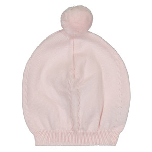Pom Pom Cable Knit Hat