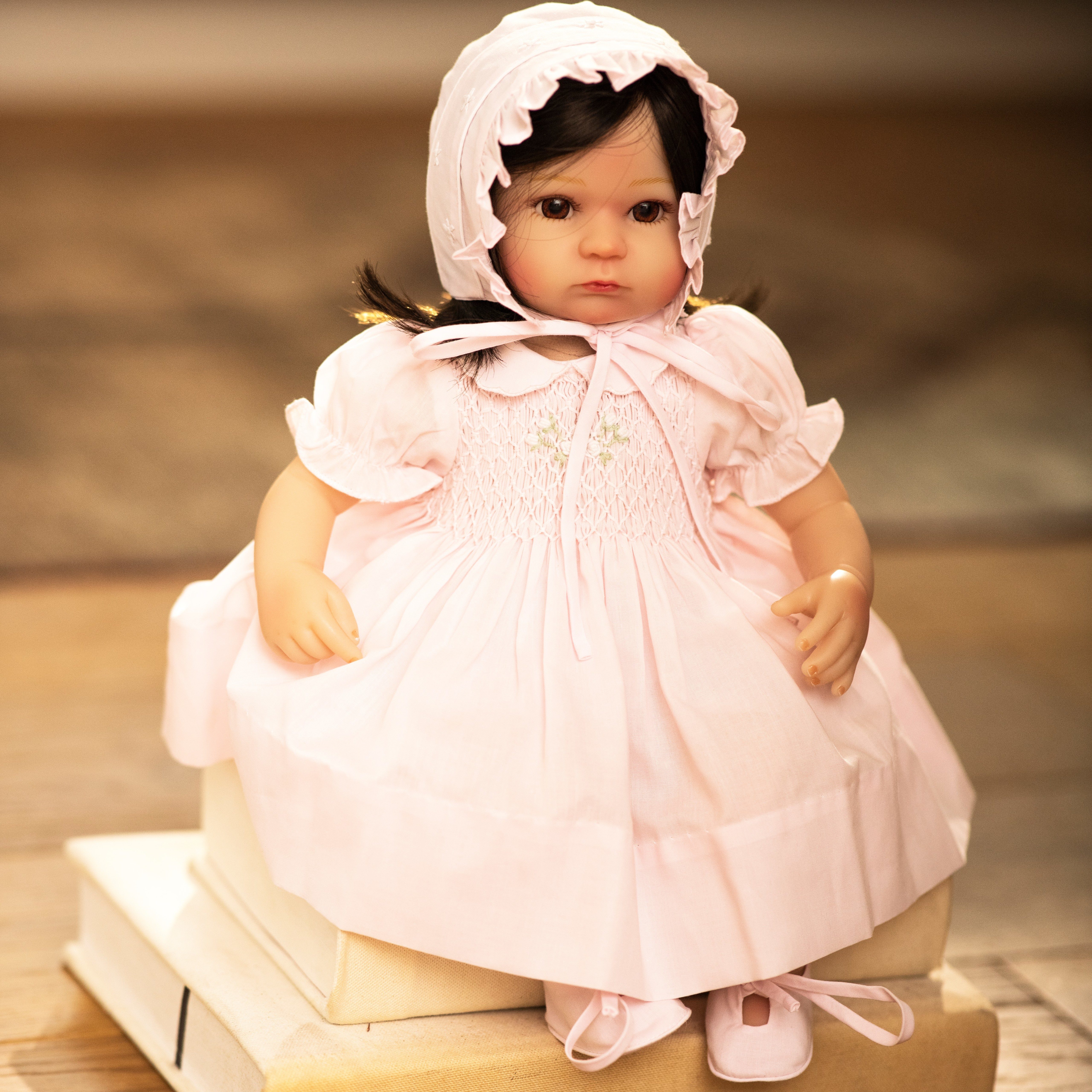 Doll Bonnet and Booties
