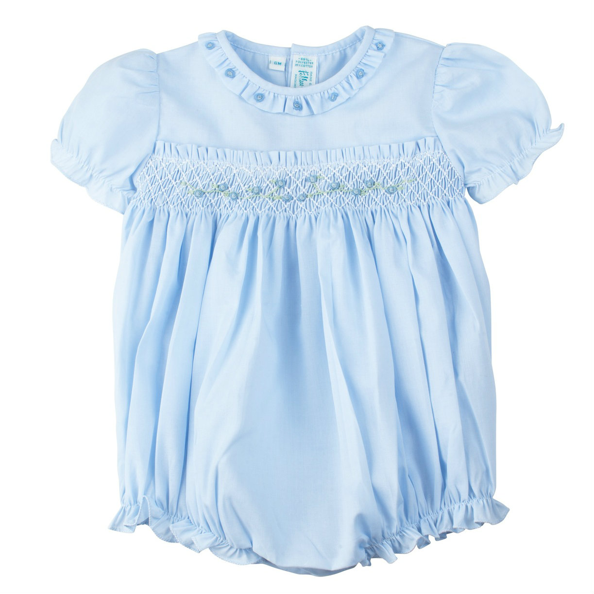 4400e251ffc22 Rose Garden Collection Smocked Bubble | Feltman Brothers