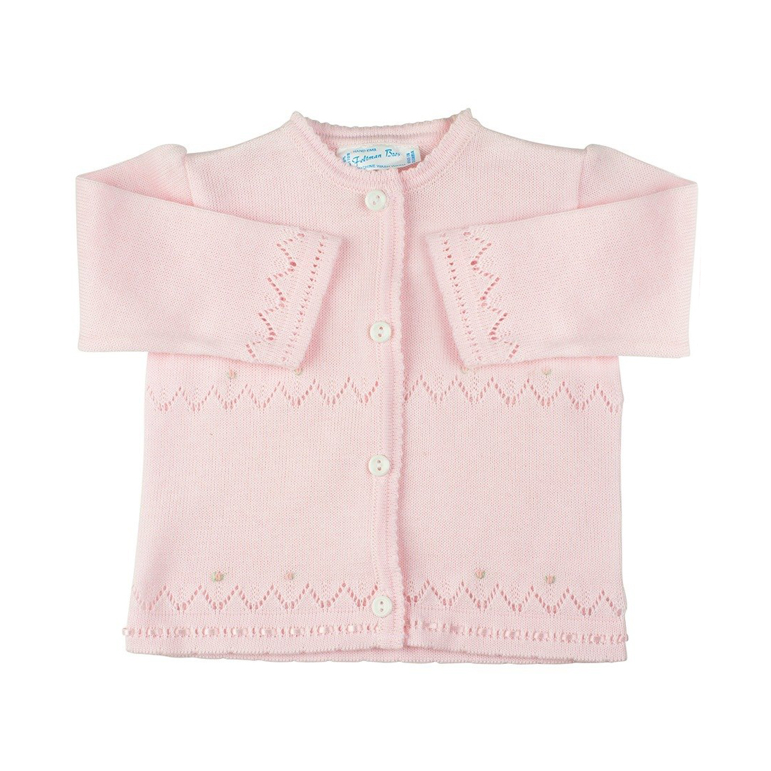 Feltman Brothers Infant Girls Pink Cardigan Sweater with Pearls