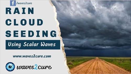 Rain From Quantum Cloud Seeding Using Scalar Waves