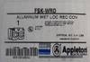 Appleton FSK-WRD Aluminum Duplex Cover for Non-Locking Plug, Wet Location - New