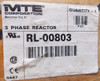 MTE RL-00803 3 Phase Line Reactor 8 Amps, 5.0 mH, Open - New