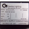 Gardco Lighting M15A-S-HFL 70W MH M139 120V Outdoor Light Fixture - New